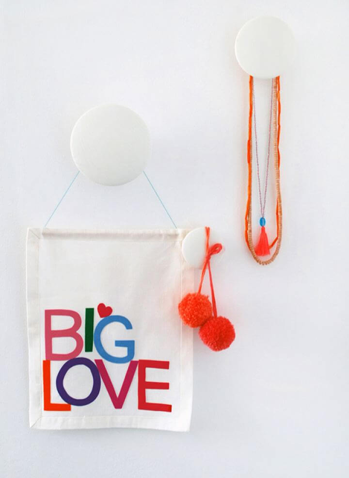 Make A Letter Big Love Fabric Wall Hanging