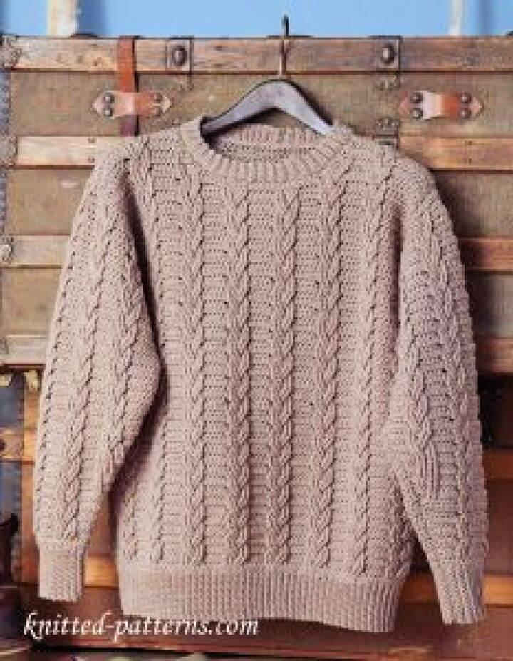 Make A Mens Crochet Sweater Pattern Free