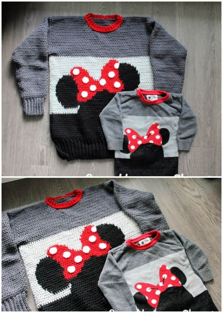 Make A Minnie Mouse Sweater Crochet Pattern