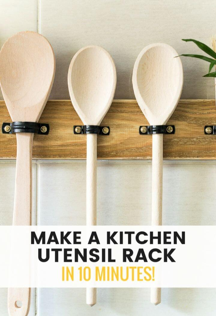 Make DIY Utensil Hanging Rack