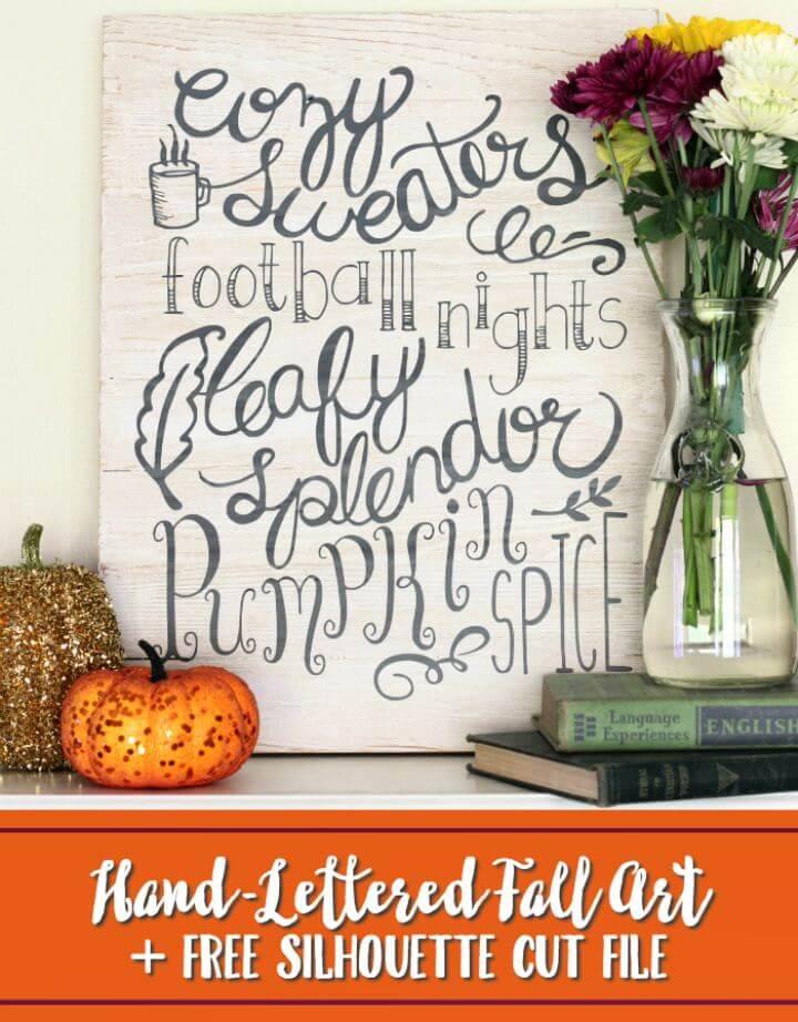 Make Easy DIY Hand Lettered Fall Wall Art