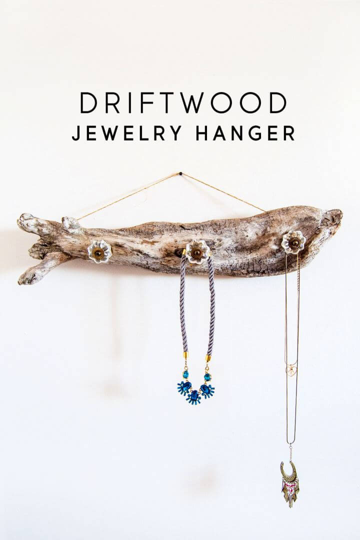 Make Your Own A Jewelry Hanger From Driftwood