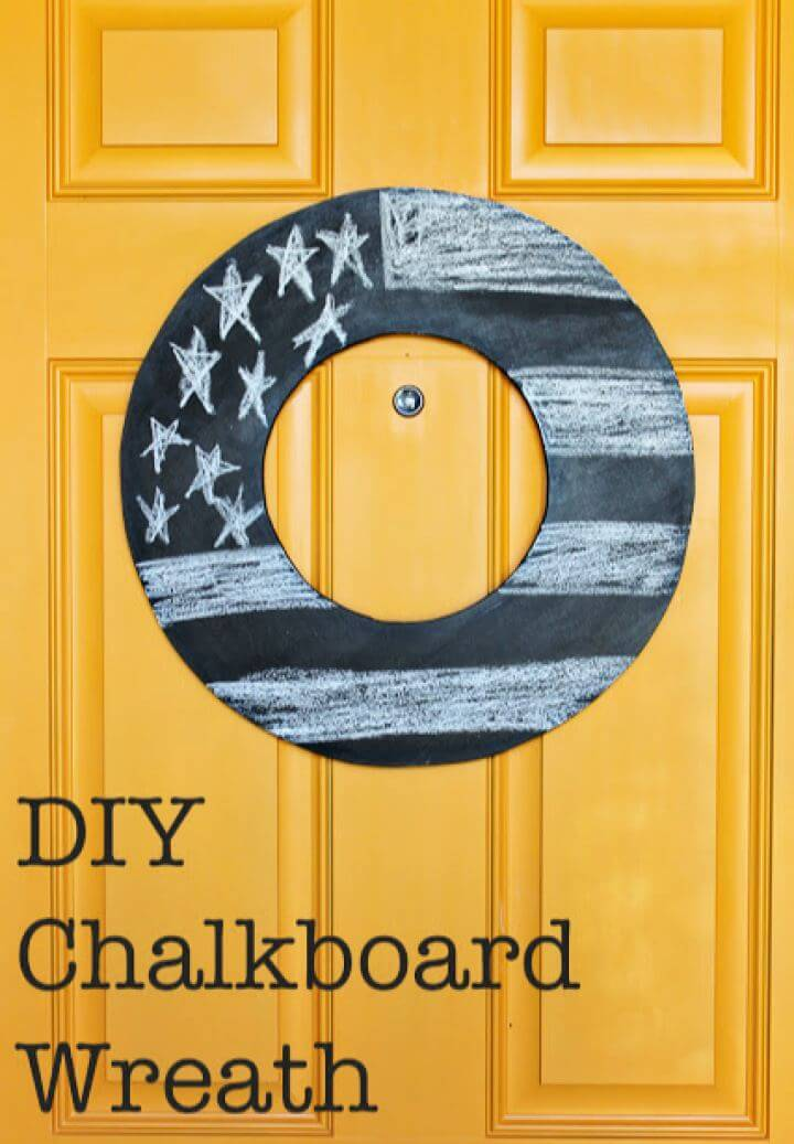 Make Your Own Chalkboard Wreath