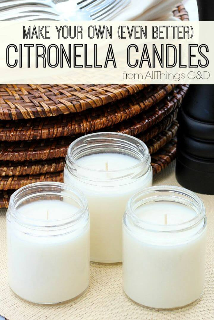 Make Your Own Citronella Candles Gift For Him