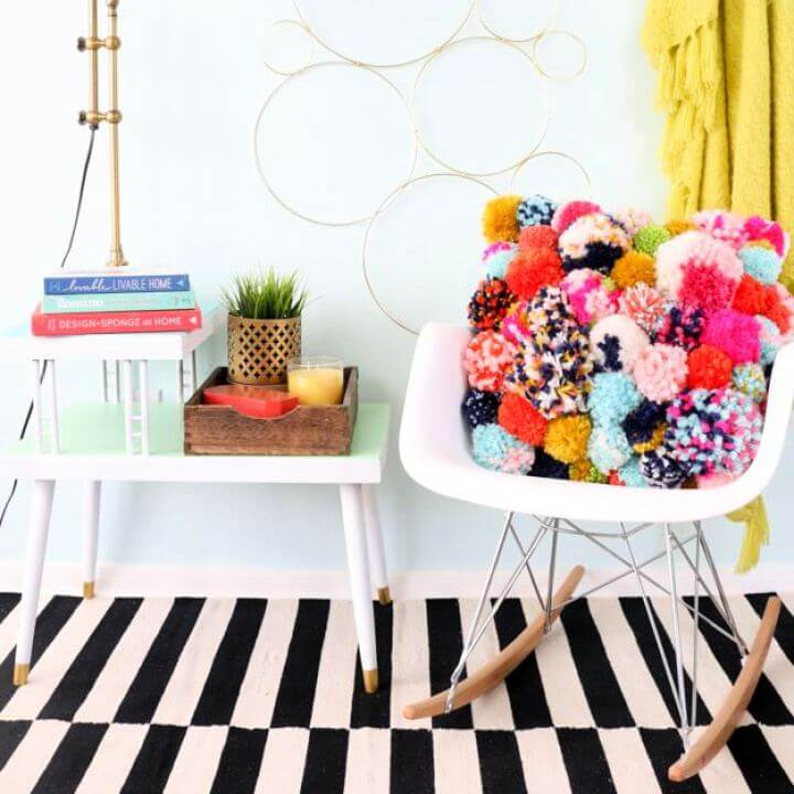 Make Your Own Cozy Pom Pom Pillow