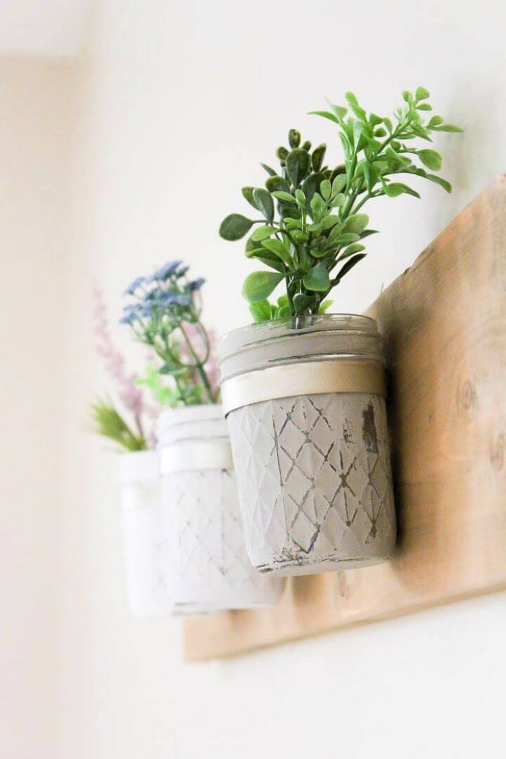 Make Your Own DIY Mason Jar Wall Hanging Planter