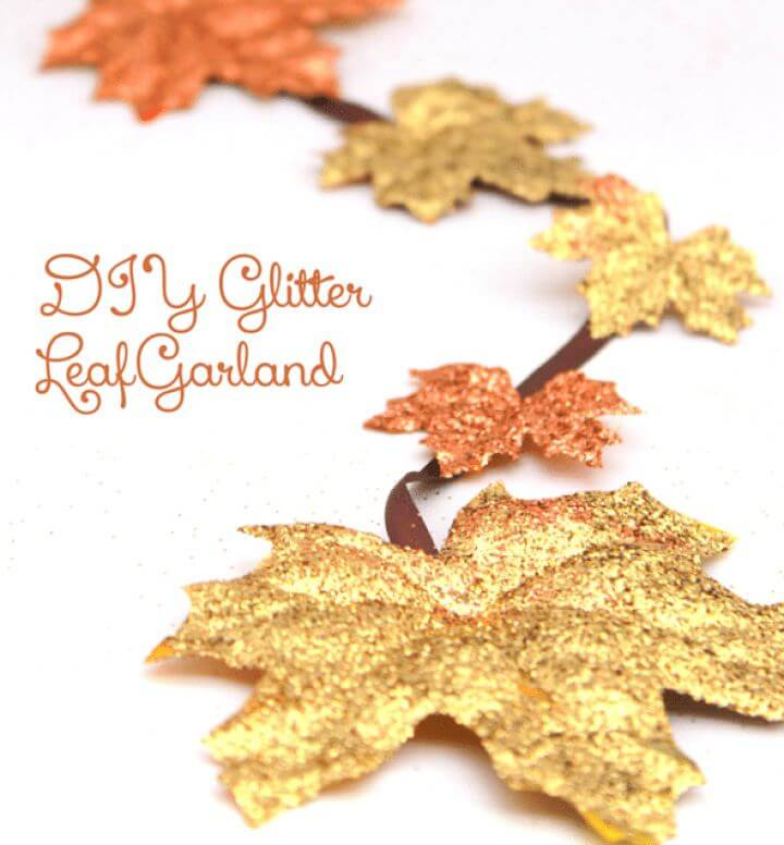 Make Your Own Glitter Leaf Garland