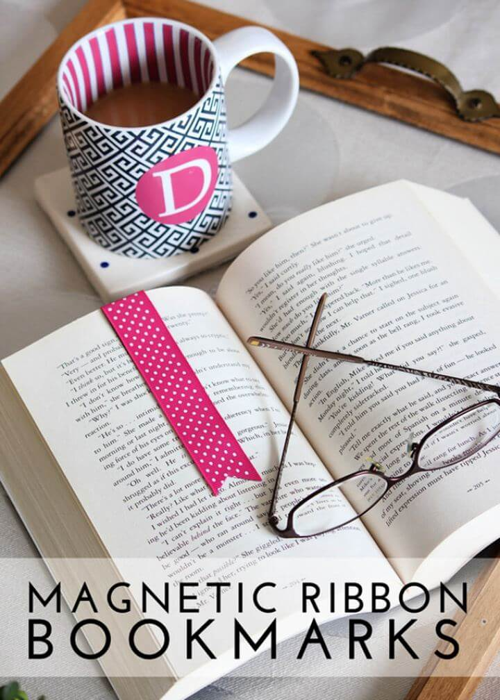 Make Your Own Magnetic Ribbon Bookmarks