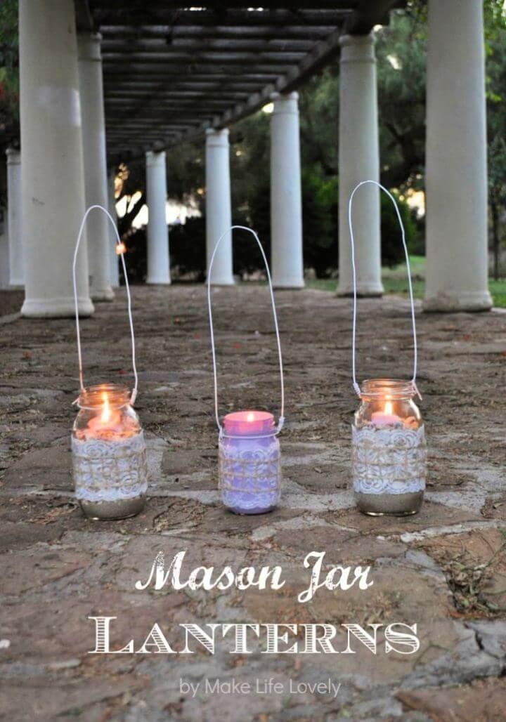 Make Your Own Mason Jar Lanterns