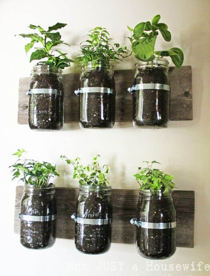 Make Your Own Mason Jar Wall Planter