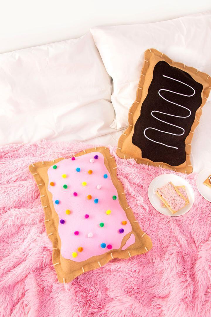 Make Your Own No Sew Pop Tart Pillow