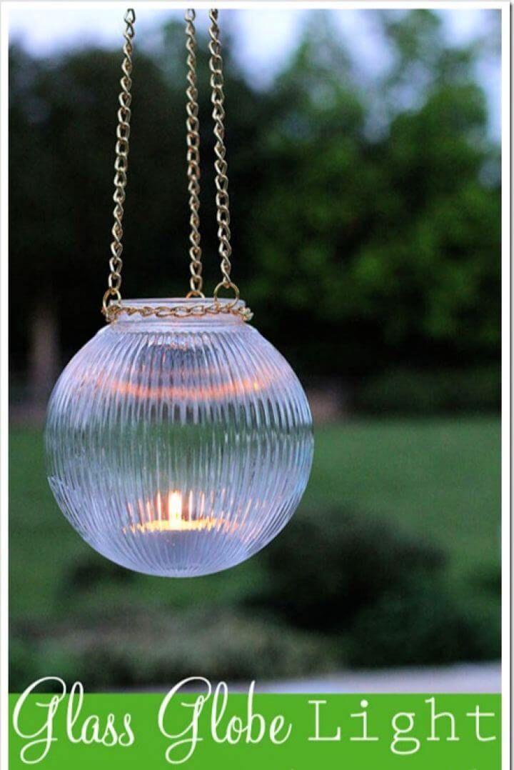 Make Your Own Outdoor Glass Hanging Lights
