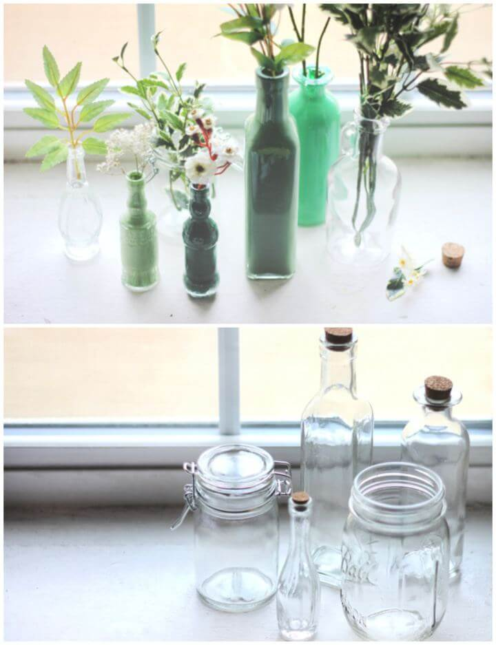 Make Your Own Painted Glass Bottles