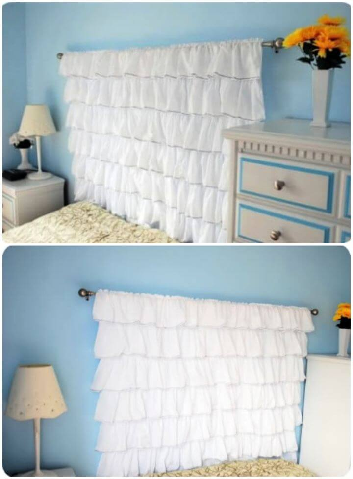 Make Your Own Ruffled Headboard