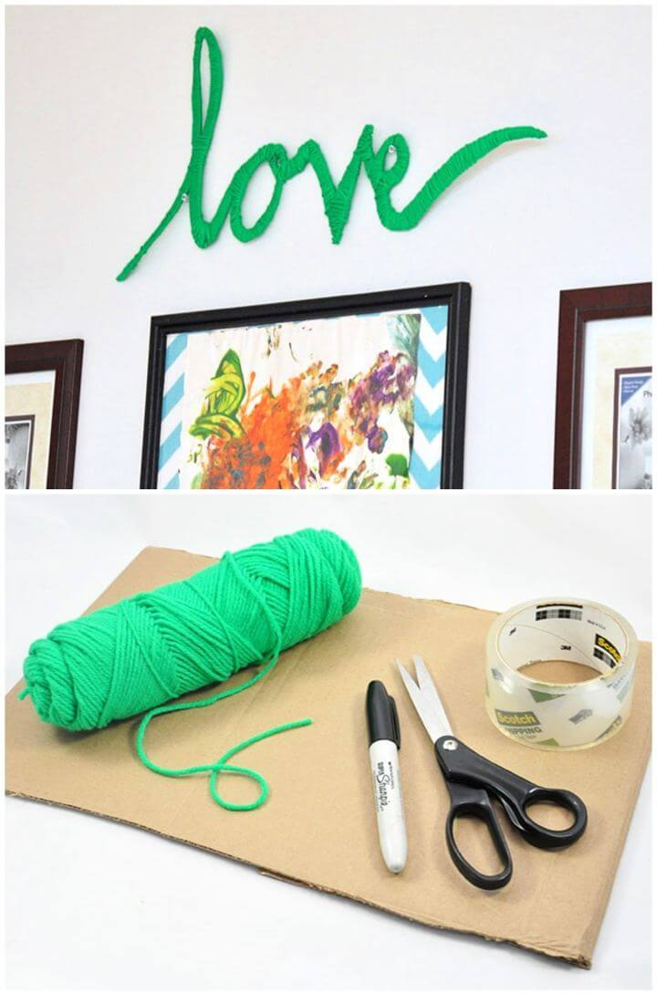 Make Your Own Wrapped Yarn Wall Art