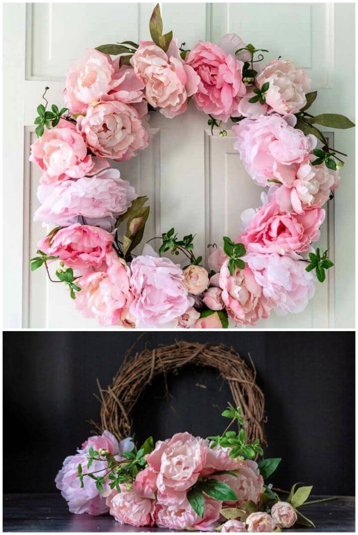 Make a Beautiful DIY Spring Peony Wreath Tutorial