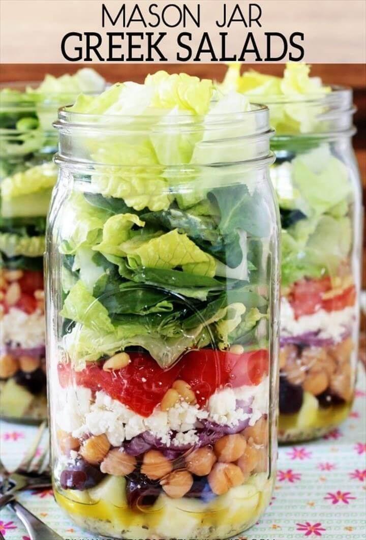 Greek Mason Jar Salads