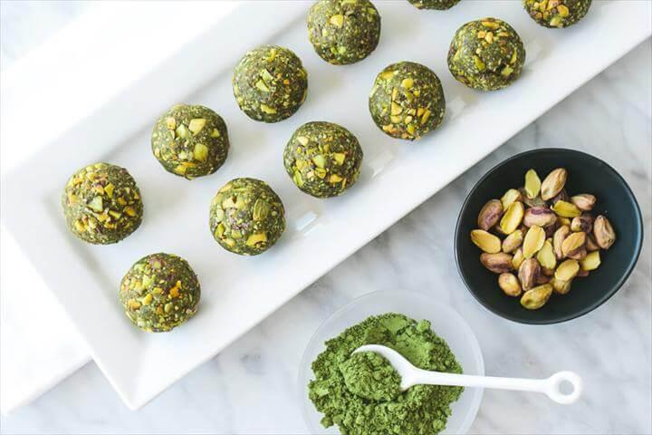 Matcha Pistachio Bliss Balls (gluten-free)
