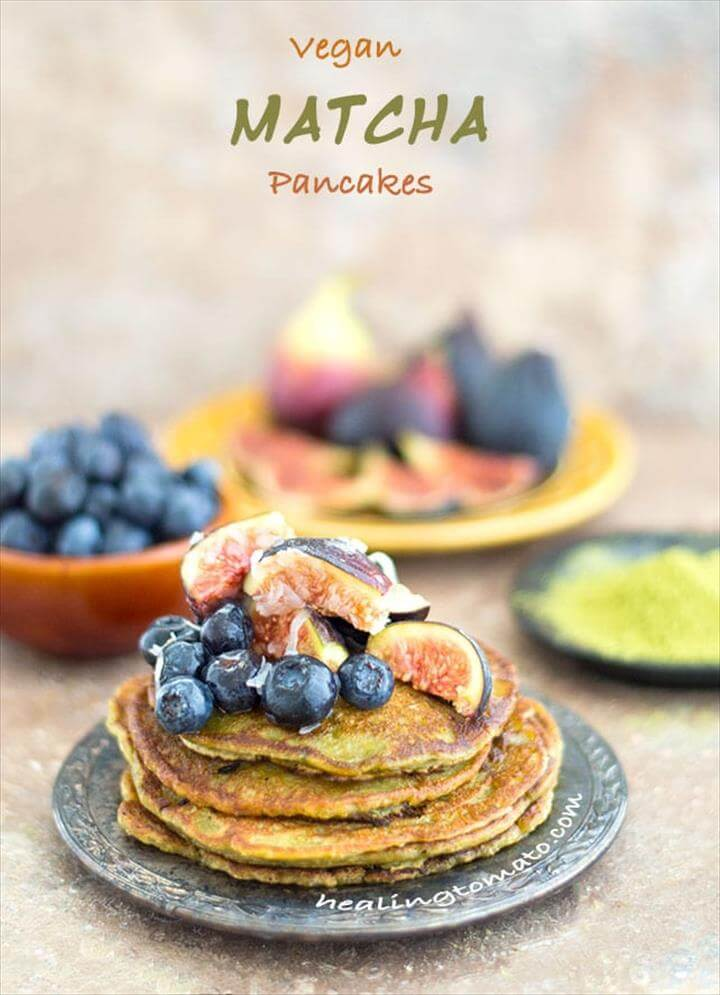 Vegan Pancake Recipe with Matcha