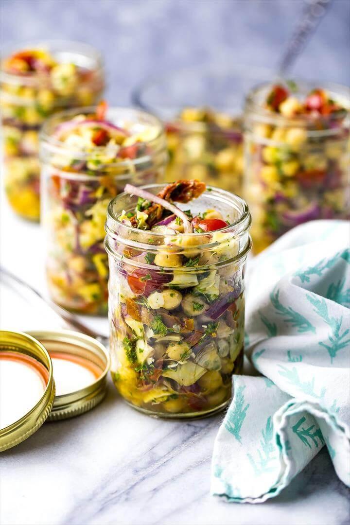 Mediterranean Chickpea Salad Jars