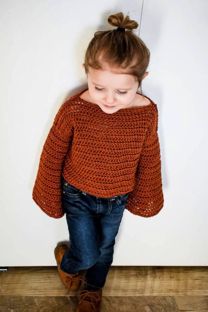 Modern Free Crochet Toddler Sweater