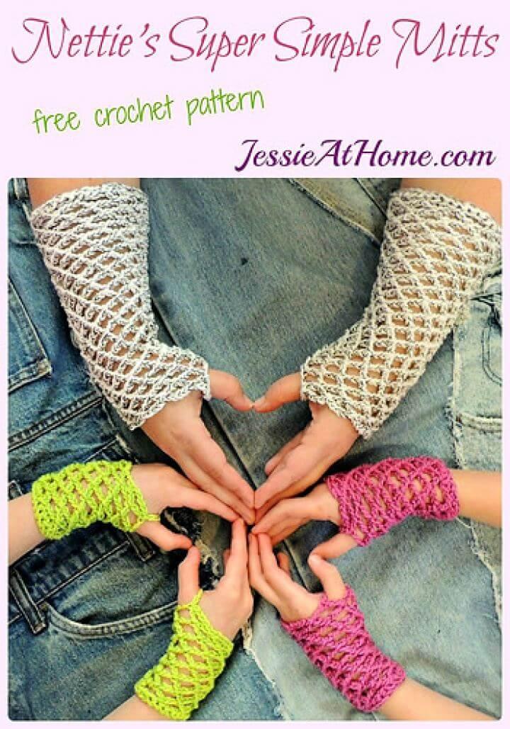 Nettie's Super Simple Mitts Crochet Gloves