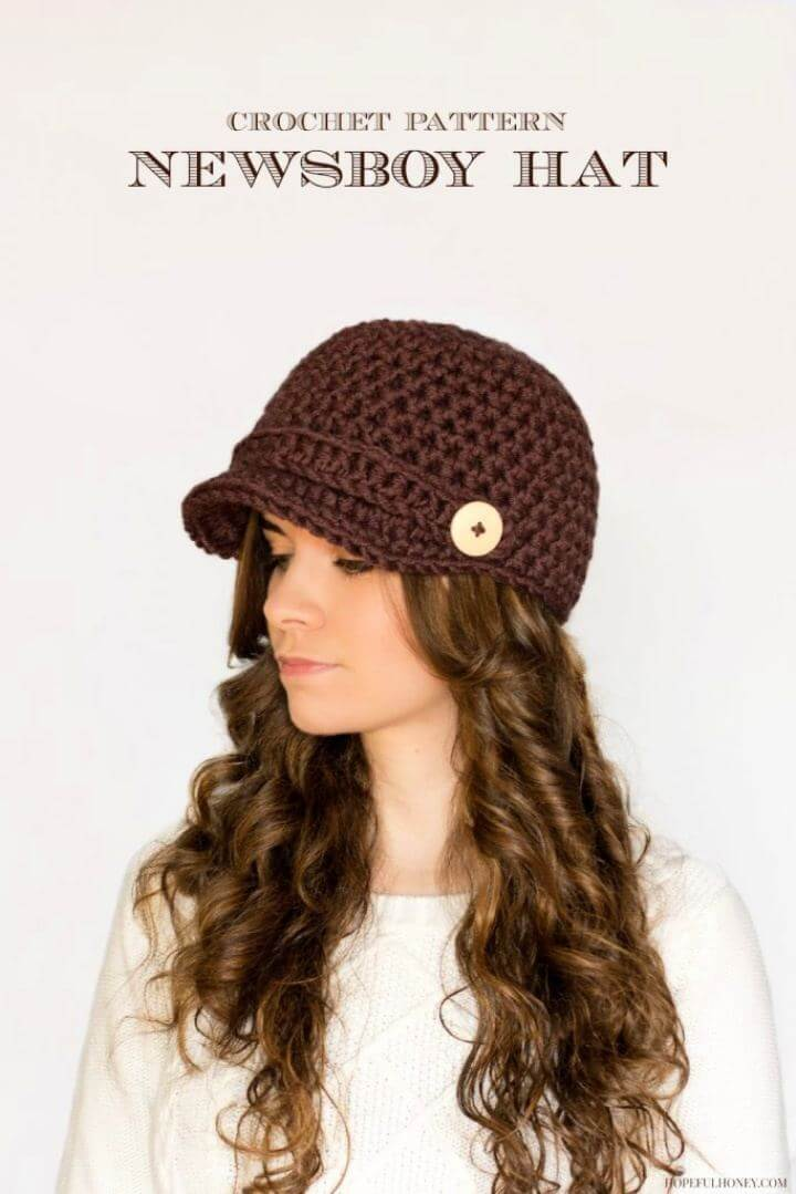 Nifty Newsboy Hat Crochet Pattern