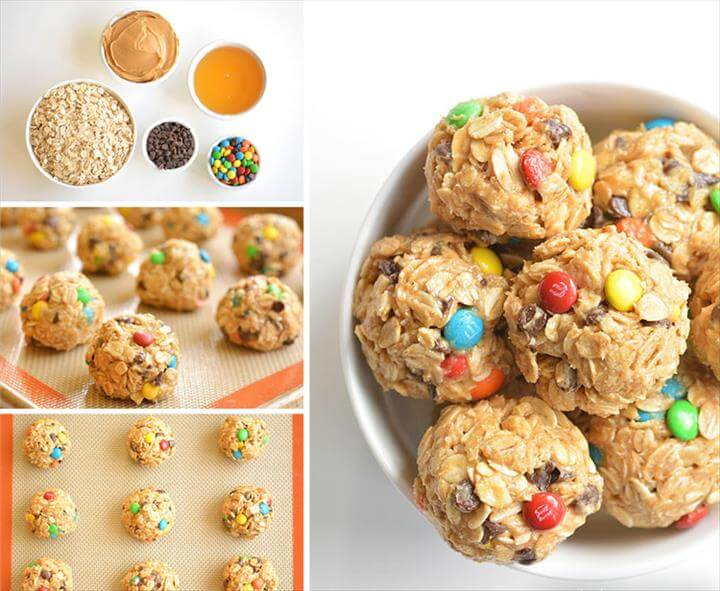 These no bake monster cookie energy balls are so easy to make and they taste DELICIOUS