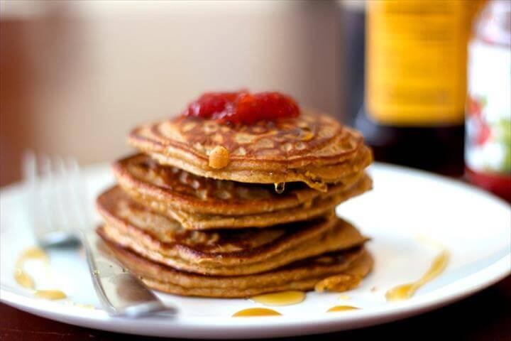 Organic Flourless Peanut Butter & Jelly Pancake Recipe {Gluten Free & Grain Free}