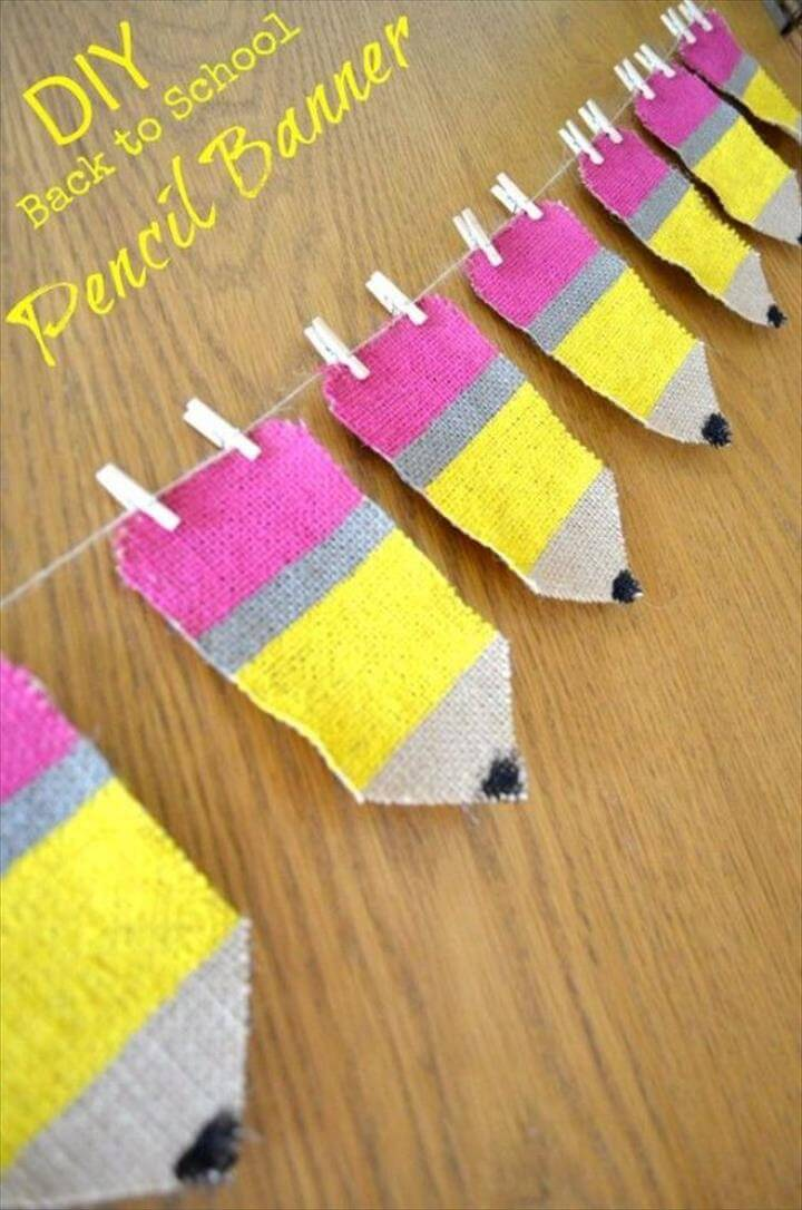 Pencil Banner Classroom Decor DIY
