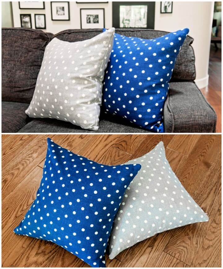 Quick DIY Pillows From Store Bought Napkins