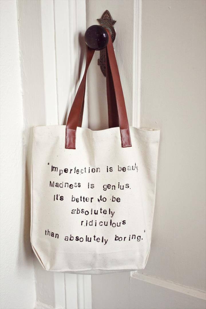 Quote DIY Tote bag