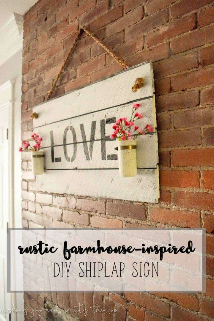 rustic farmhouse, inspired diy shiplap sign, how to decor, do it yourself,
