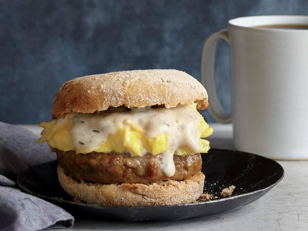 Sausage, Gravy, and Egg Breakfast Sandwiches