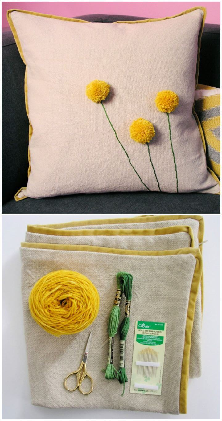 Simple DIY Billy Ball Pillow For Home