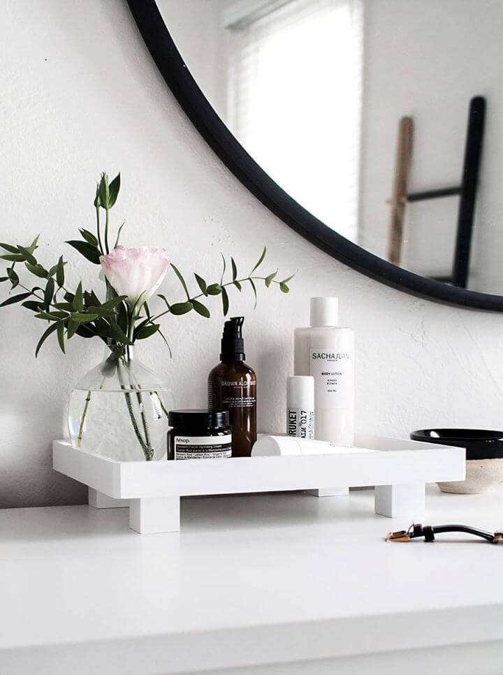 Simple DIY Footed Vanity Tray