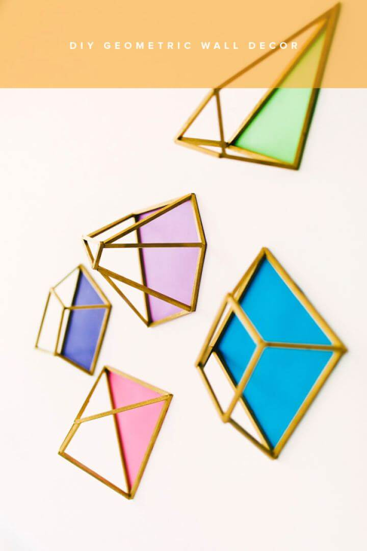 Simple DIY Geometric Wall Decor For Your Room