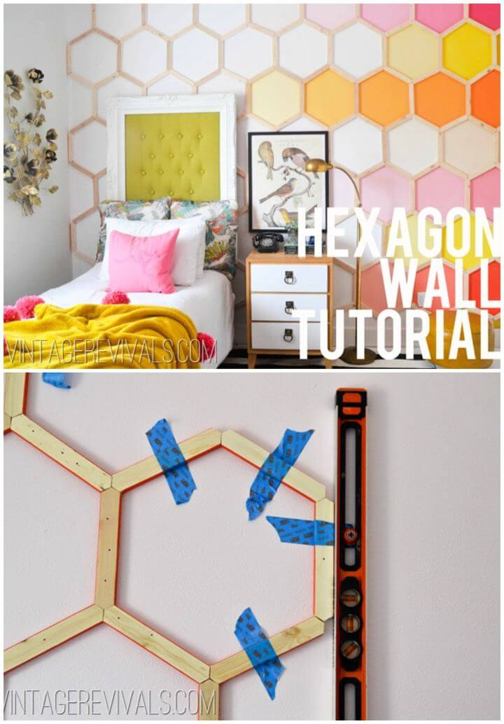 Simple DIY Honeycomb Hexagon Wall Art