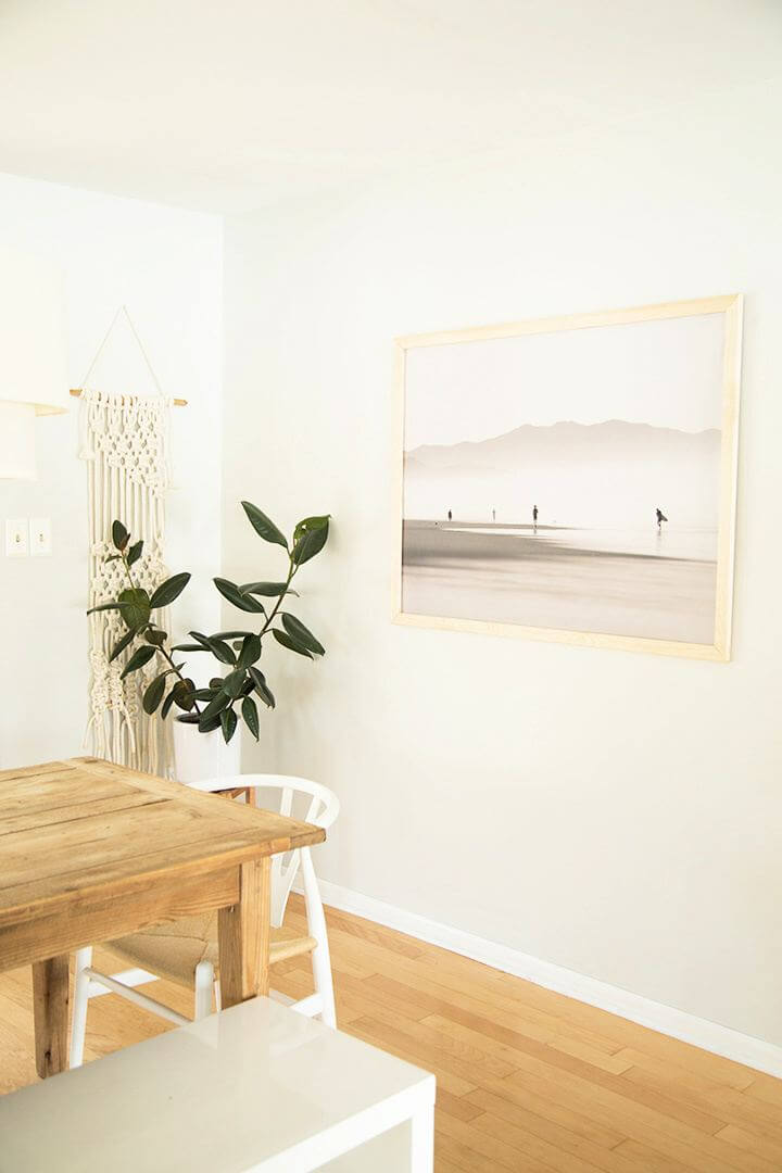 Simple DIY Large Scale Print Wood Picture Frame