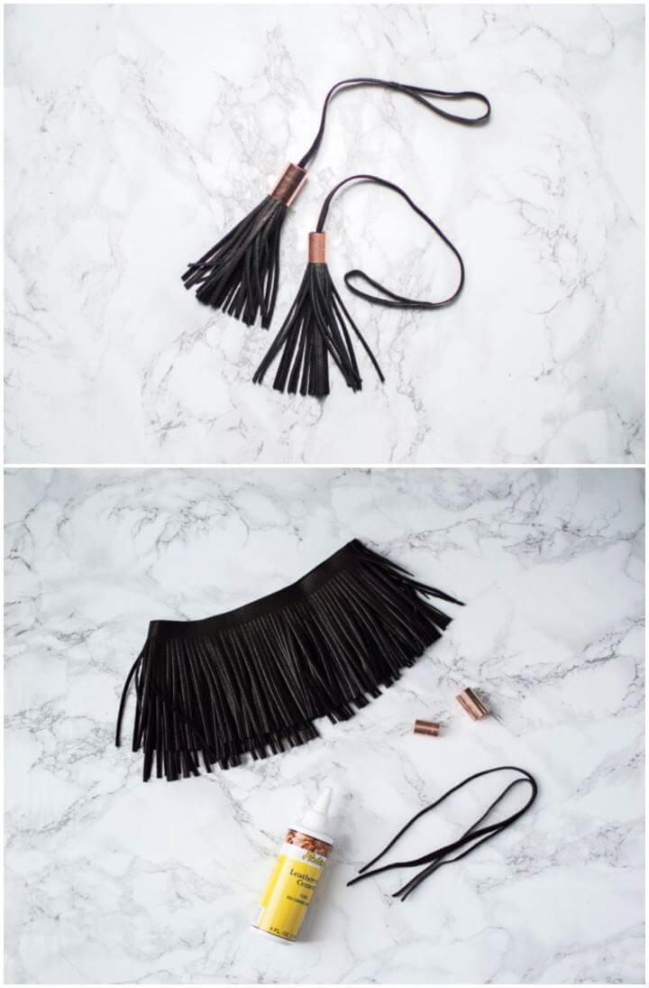 Simple DIY Leather Copper Bag Tassel Gift