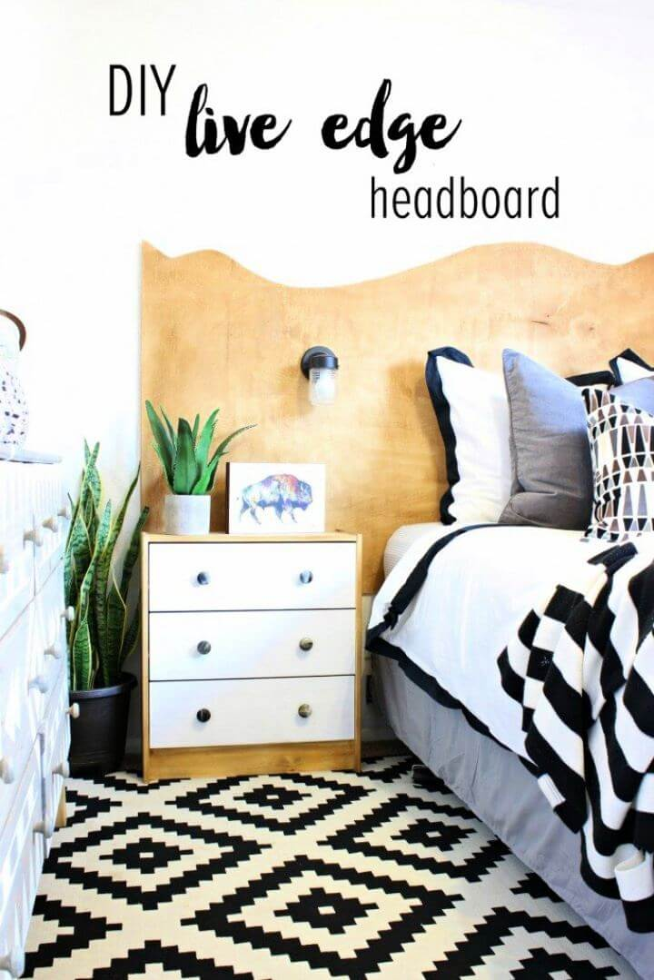 Simple DIY Live Edge Headboard