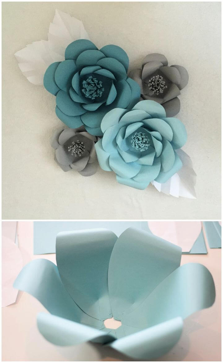 paper flowers, paper crafts flowers, diy paper crafts step by step,
