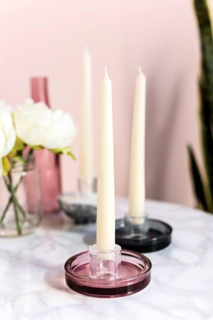 Simple DIY Perspex Candle Holders