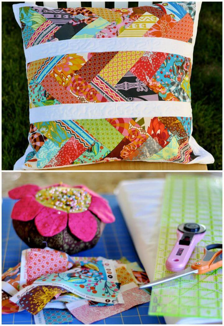 Simple DIY Pointed In The Right Direction Pillow For Home