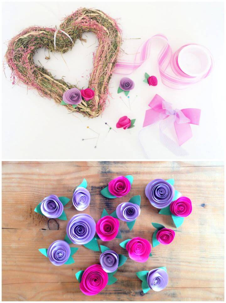Simple DIY Spring Wreath in Pink and Lavender