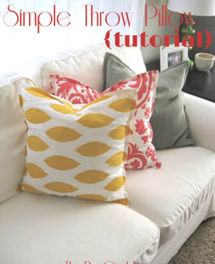 Simple DIY Throw Pillow For Home