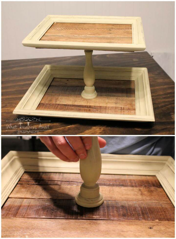 Simple DIY Tiered Vanity Tray From Frames