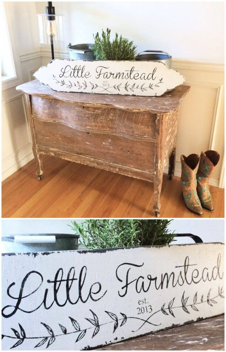 simple diy signs, vintage farmhouse style sign, how to, home improvements,