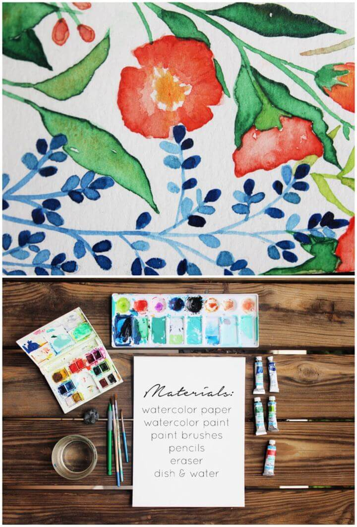 diy crafts and projects, crafts, watercolor tutorial,
