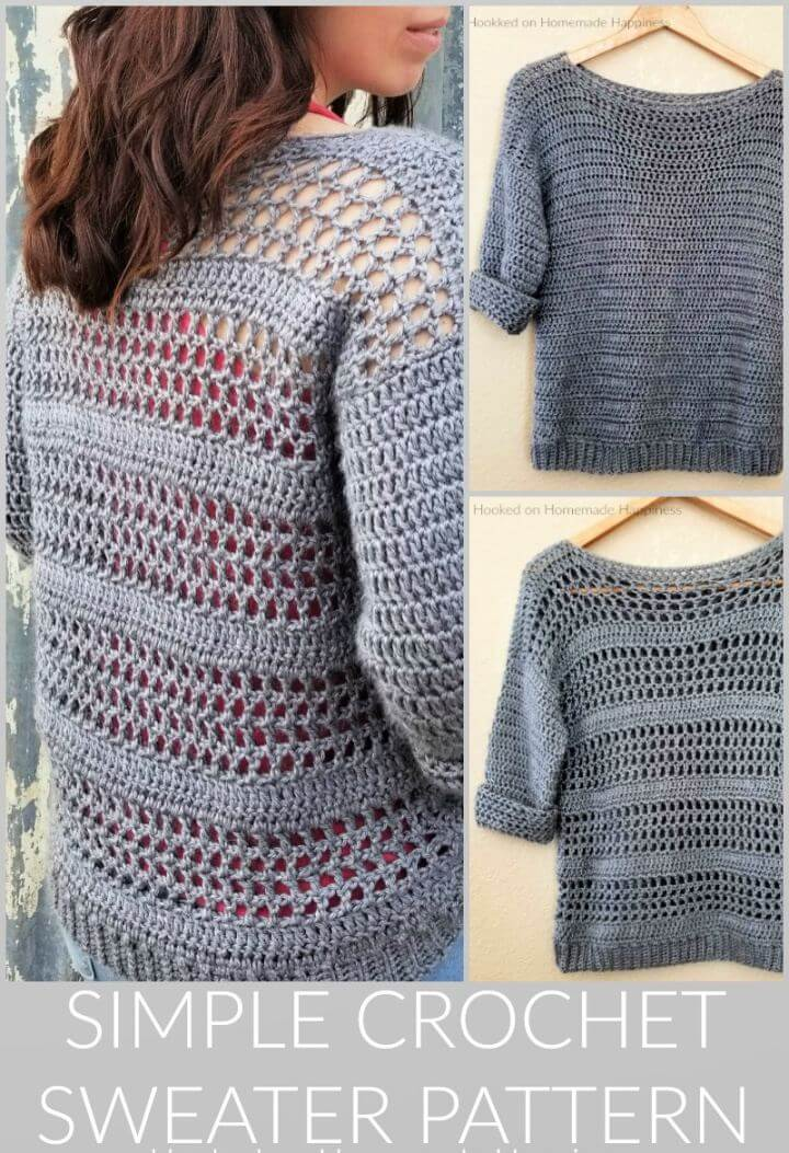 20 Easy Crochet Sweater Patterns For Beginners Creative Diys